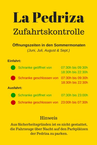 Infografik_Pedriza_Öffnungszeiten